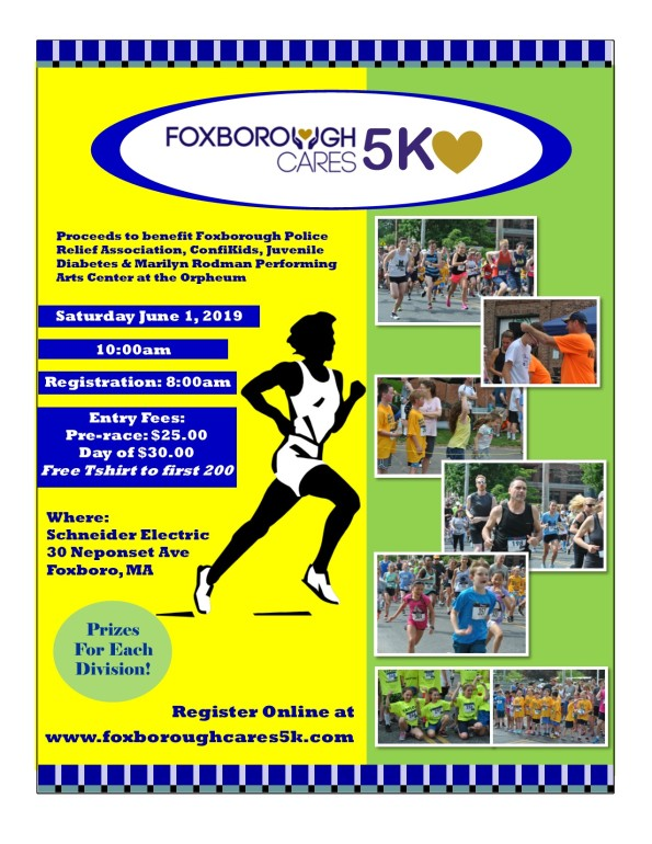 2019 FoxboroughCares5K Flyer Final as of April 12th